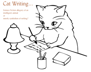 Cat writing - example of science fiction allegory